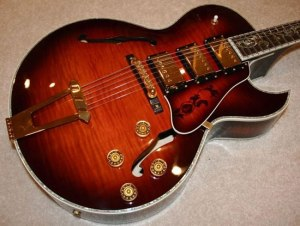 Designed by Steve Wilson, formerly of Gibson Custom Shop, Nashville, TN.
